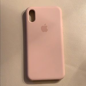 Accessories - iPhone X or Xs pink sand silicone case